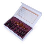 Kingstar Oval Makeup Toothbrush Kit,10 pcs Makeup Brush Soft Oval Toothbrush Set Foundation Brushes Cosmetics Cream Contour Powder Blush Tool