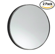 SUKRAGRAHA Suction 10X Magnifying Make Up Mirror 2 pc