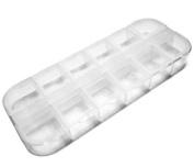 10PC Nail Art Acrylic Rhinestone Plastic Case Ongles by Hongnuo nail supplies factory