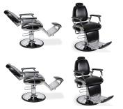 Barber Chairs 4 Black DELANO Heavy Duty Hydraulic Recline Barber Shop Salon Furniture …