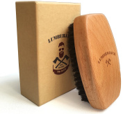 Beard Brush for Men - Wild Boar Bristle - Beech Wood - Perfect for Beard Oils & Balms - Ergonomic shape
