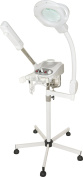 3 in 1 Aromatherapy Ozone Facial Steamer w/ 5 diopter Magnifying Lamp and Facial Brush Unit - New Contemporary Design