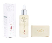 """Vinali - Cosmetic Ecological, Grape Seed Facial Oil rich in Vitamin E """"Huile des Vignes"""" (30 ml.) With Natural GIFT Soap """"Savon Naturel"""" made with extracts of BIO Grape"""