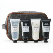 Tri Coastal Design 5 piece travel kit includes Travel Bag 15cmx23cmx7cm, Face Wash & Scrub 80ml, Body Lotion 80ml, Body Wash & Shampoo 80 ml, Shampoo & Conditioner 80ml. Products enriched with vitamin e and jojoba