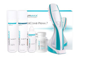 HairMax PRIMA 7 LaserComb with Den•si•ty 4 PC Thinning Hair Care Bundle (worth over £65). Stimulates Hair Growth, Reverses Thinning, Regrows Fuller More Vibrant Hair.