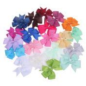 MultiWare 40 Handmade Bow Hair Clip Colourful Alligator Clips Girl Accessories