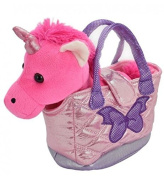Sparkly Soft Unicorn In A Handbag Plush Pal Toy ~ Colour Vary