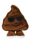 """Icons Soft Toy Emoticon - Poo with Sunglasses 38cm / 15"""""""