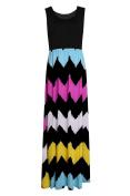 Women Sleeveless Maxi Party Dress Summer Long Beach High Waist Striped dress