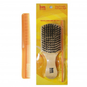 Natural Boar Bristle Beard & Hair Brush With Comb Best Quality Brush