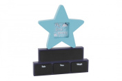 My First Years 'ABOUT ME' Wooden Blocks with star photo frame - add name, date, time, height