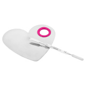 Smilco Heart Cosmetic Makeup Palette with Spatula Makeup Artist Tool