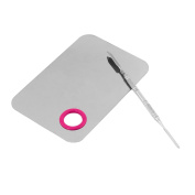 Smilco Pro Stainless Steel Cosmetic Makeup Palette with Spatula Makeup Artist Tool for Mix Foundation Shades