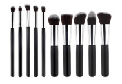 Pro 10pcs Makeup Cosmetic Blush Brush Eyebrow Foundation Powder Brushes Kit Set with makeup cover