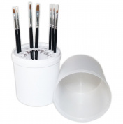 NAILFUN 7 Black Nail Art Paintbrushes in Container