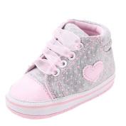 Fulltime(TM) Baby Girl Prewalker Sweet Canvas Sneaker Antiskid Soft Cute Trainer