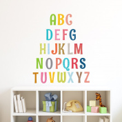 Decowall DA-1701A Uppercase Alphabet Letter Peel and Stick Nursery Kids Wall Stickers Decals