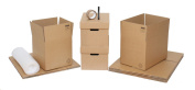 """Moving Boxes - Pack of 10 Cardboard House Packing Cartons Ideal For Students, With Bubblewrap & Free Packing Tape & Marker Pen. 5 x Strong Double Wall Moving House Boxes 18""""x12""""x12"""" For General Use, 3 x Small Removal Boxes 12""""x12""""x12"""" Good For Books, A .."""