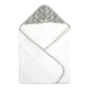 My Blankee Newborn Hooded Luxe Towel, Snail Silver