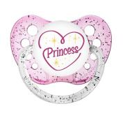 Ulubulu Expressions Pacifier Princess Glitter Pink