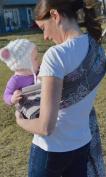 Lite-on-Shoulder Baby Sling Carrier, Open Tail,Ergonomic, 100% Cotton , Adjustable
