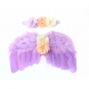 OVERMAL Baby Newborn Toddler Angel Wings Headband Hairband Flower Photography