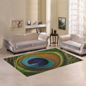 JC-Dress Area Rug Peacock Feathers Modern Carpet 2.1mx1.5m