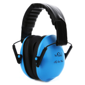 Kids Noise Cancelling Ear Muffs, Children's Fold-able Hearing Protection Ear Defenders from Toddler to Teen, Blue