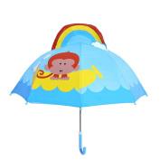 AxiEr 46cm Cute Animals Bent Shank Umbrella Children's Cartoon Umbrella