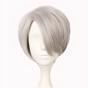 Yuehong Short Synthetic Hair Peruca Cosplay Wig