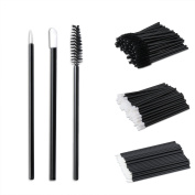SoulBay 150pcs Lip Brushes Eyeliner Brushes Eyelash Mascara Wand Brushes, Disposable Makeup Applicators Kit