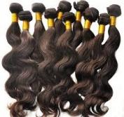 Hairaddictioncollection 7A unprocessed Brazilian Virgin Human Hair, 3 Bundles Mixed Size Length, Natural Colour Weave 24,26,28