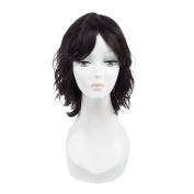 Brazilian Human Hair Wigs Natural Wave Non-Remy Hair Natural Colour For Black Women