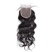 Bolin Hair 3 Part Closure Natural Wave Virgin Brazilian Hair 130% Density Lace Closure Natural Hair Colour Soft and Silky