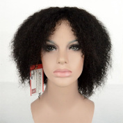 MyNiceHair--Afro Kinky Curly Brazilian Human Hair None Lace Wigs For Black Women Natural Black