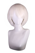 HH Building Yorha 9S Character Costume Cosplay Wig Short Straight Hair