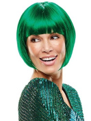 Icon Costume Cosplay Posh Bob Wig Angle Cut Chin by Jon Renau Wigs - Green