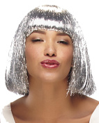 Tinsel Town Blunt Bangs Chi Length Bobl Glam Cosplay Costume Wig Fun by Jon Renau Wigs - Metallic Red