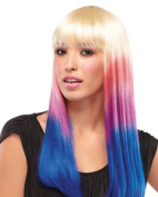 Party Girl Cleopatra Blunt Bangs Nicki Minaj Cosplay Costume Wig Fun by Jon Renau Wigs - Candy Stripe