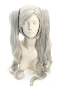 Topcosplay Women Wigs Long Curly Blonde Grey Cosplay Halloween Anne Wig Beauty Hair