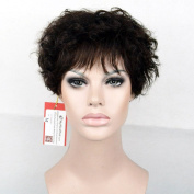 MyNiceHair--Pure Brazilian Human Hair Short Fashion Curly Wigs For Women