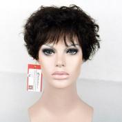 MyNiceHair--Pure Brazilian Human Hair Short Fashion Curly Wigs For Women