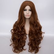 Aosler 80cm Wig Heat Resistant Women Long Curly Hair No Bangs Wigs for Cosplay,Costume Party,Halloween