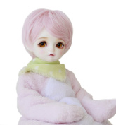 BJD Doll Toy Wig Short Pink Cute Style 1/3 size fit 20cm - 23cm Doll Gift for Girls 469A
