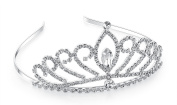 Lovelyshop Rhinestone Lux waterdropTiara , No Comb for Prom Birthday Prinecess Party