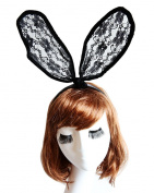 iLoveCos Black Sexy Rabbit Ears Bunny Headband for Party Nightclub