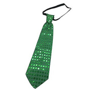 12 PC Light Up LED Green Flashing Sequin Ties