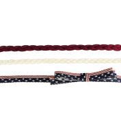 Lux Accessories Red White Blue American Patriotic 4th of July Trio Headband Set