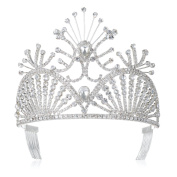 DcZeRong Prom Crowns Queen Crowns Wedding Tiaras Pageant Tiaras Bridal Crowns Women Tiara Crown