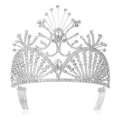 DcZeRong Prom Crowns Queen Crowns Wedding Tiaras Pageant Tiaras Bridal Crowns Women Tiara Crown